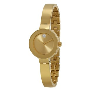Movado Bold Champagne Sunray Dial Yellow Gold Ion-Plated Ladies Watch 3600285