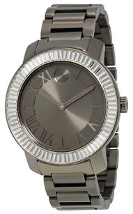 Movado Bold Gunmetal Dial Gunmetal Ion-plated Ladies Watch