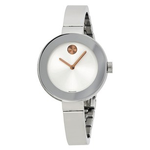 Movado Bold Silver Dial Stainless Steel Ladies Watch MV3600194