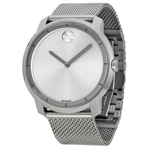 Movado Bold Silver Dial Stainless Steel Mesh Men's Watch MV3600260