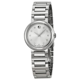 Movado Concerto Silver Dial Stainless Steel Ladies Watch MV0606789