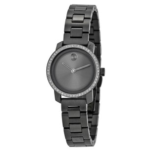 Movado Grey Dial Gray Ion-plated Ladies Watch MV3600226