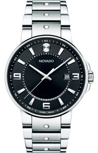 Movado Movado 0606761 SE Pilot Men's Black Dial Stainless Steel Watch