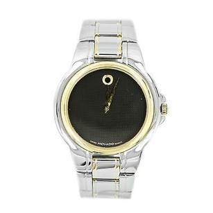 Movado Movado 81 E2 866 Two-tone Black Dial Stainless Steel Mens Watch