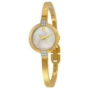 Movado Movado Bela Mother Of Pearl Diamond Gold Pvd Stainless Steel Ladies Watch