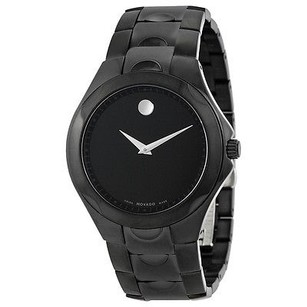 Movado Movado Black Dial Black Pvd Stainless Steel Mens Watch