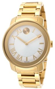 Movado Movado Bold 39mm Gold Tone Bracelet Womens Watch 3600198