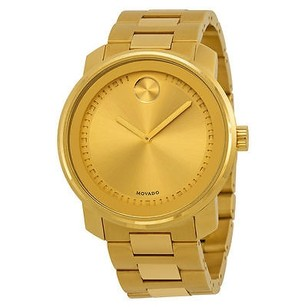 Movado Movado Bold Champagne Dial Gold-tone Mens Watch