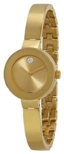 Movado MOVADO Bold Champagne Sunray Dial Yellow Gold Ion-Plated Stainless Steel Ladies Watch MV3600285