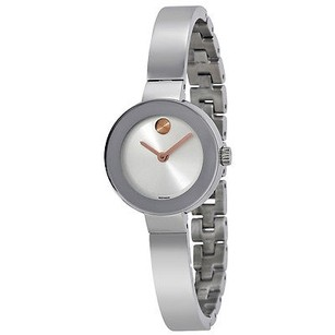 Movado Movado Bold Silver Sunray Dial Stainless Steel Quartz Ladies Watch