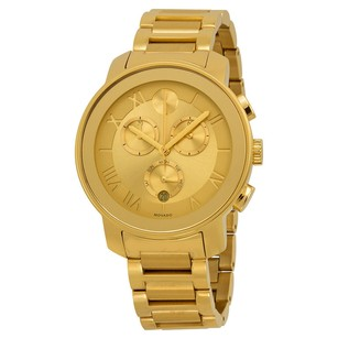 Movado Movado Champagne Dial Gold Ion-plated Ladies Watch