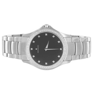 Movado Movado Masino 0606185 Watch Black Dial 1.00 Carat Diamonds Classy Mens Luxury