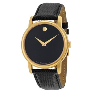 Movado MOVADO Museum Black Dial Black Leather Men's Watch MV2100005