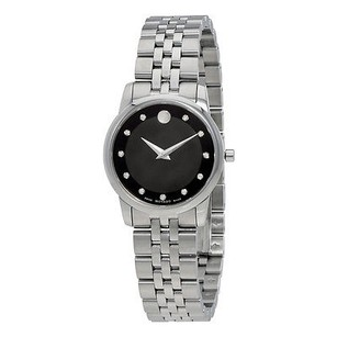 Movado Movado Museum Quartz Black Dial Silver Stainless Steel Ladies Watch