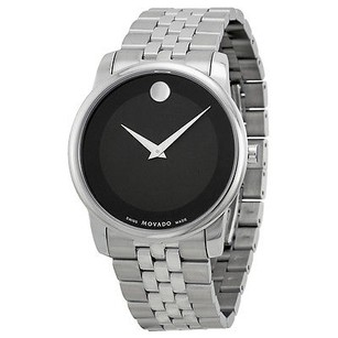 Movado Movado Stainless Steel Black Museum Dial Mens Watch