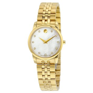 Movado Museum Classic White with Diamonds Dial Ladies Watch MV0606998