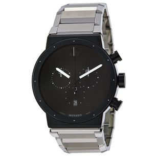 Movado Synergy Chronograph Black Dial Stainless Steel Men's Watch MV0606800