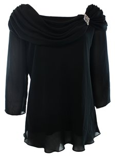 MSK 100% Polyester 3/4 Sleeve Top