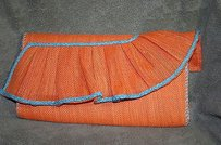 Mudd Mudpie Tangerine Orange Clutch