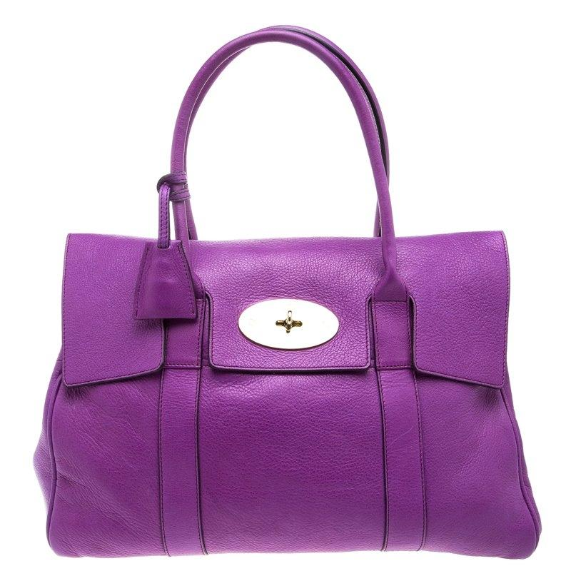 ... where can i buy mulberry bayswater leather satchel in purple 23ac6  3af4a czech mulberry mini mole gray bayswater buckle bag euc croc stamped  nubuck ... 470cf73206d0c