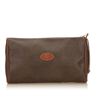 Mulberry Brown Leather 7ambcl001 Clutch