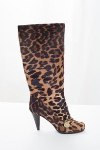 Mulberry Womens Leopard Pony Multi-Color Boots
