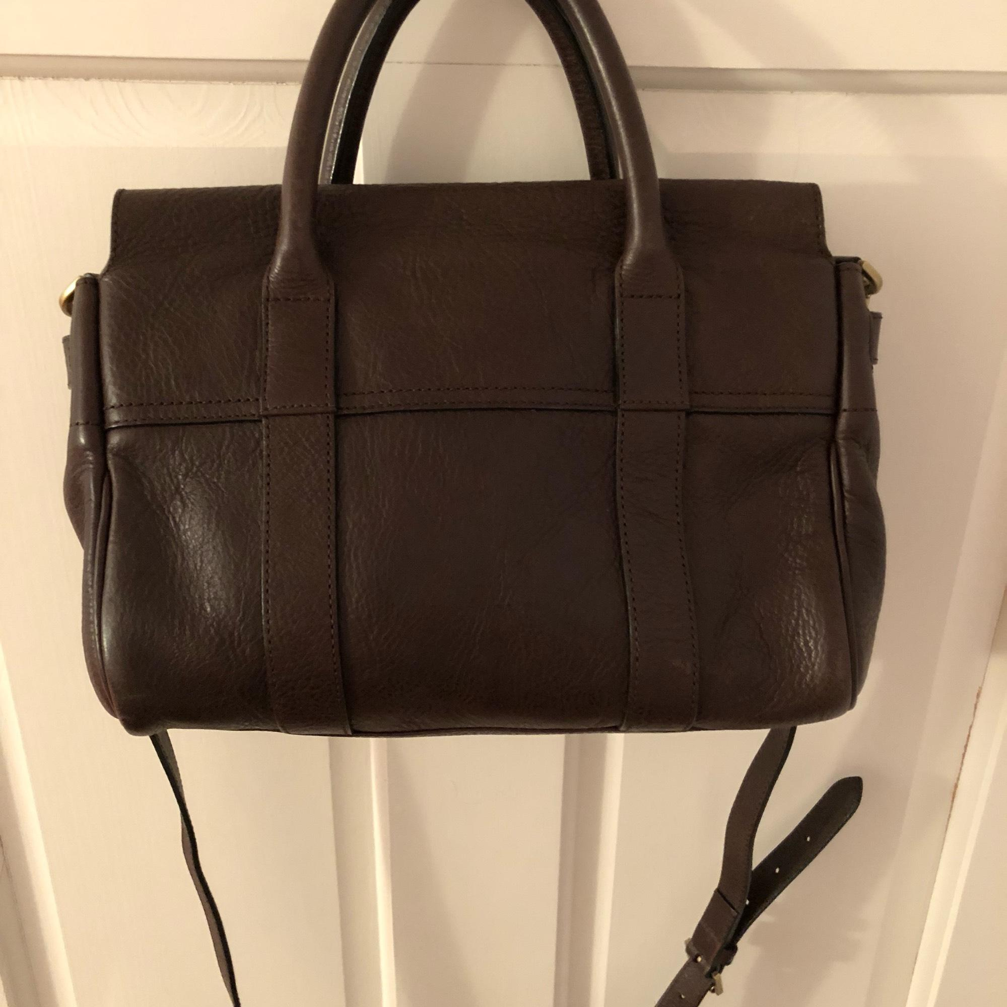 eb8ac6f231 ... good mulberry small bayswater chocolate natural leather satchel tradesy  b6281 3de32 ...