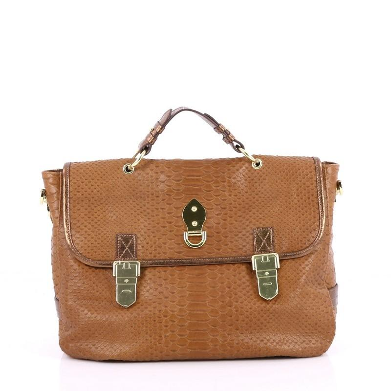 Mulberry Tillie Satchel Python Embossed Leather Medium Ai74De7Y