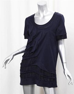 Mulberry Navy Silk Tunic