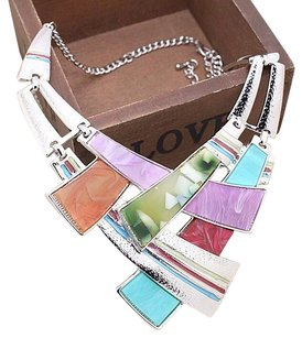 Multiclor Bib Necklace Set Multicolor Necklace Set
