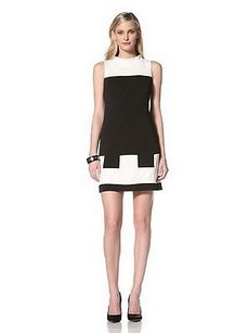 Muse short dress Black/white Black White Color Block on Tradesy