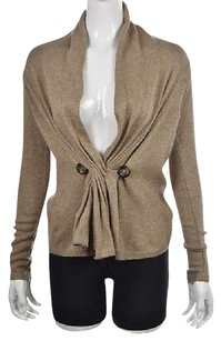 Mystree Womens Taupe Cardigan Rayon Jacket Sweater