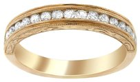 0.45CT DIAMOND 14K ROSE GOLD ANNIVERSARY BAND SIZE 5-8