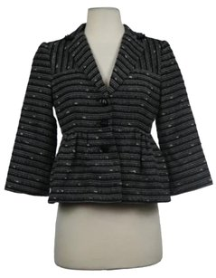 Nanette Lepore Womens Black Black, White Jacket