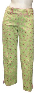 Nanette Lepore Green Cotton Capri/Cropped Pants Multi-Color