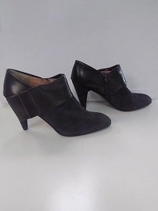 Nanette Lepore Charcoal Suede Bed Chamber W Side Bow B3490 Gray Boots