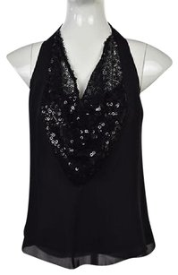 Nanette Lepore Womens Black Halter Top