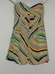 Nanette Lepore Multi Color Silk Top Multi-Color