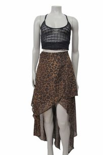 Nasty Gal Animal Print Skirt Brown
