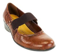 Naturalizer Womens Leather brown Platforms