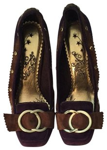 Naughty Monkey Purple Brown Gold Pumps