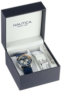 Nautica Nautica Men's N09915G Sport Ring Multifunction Stainless Steel Watch With Two Interchangable Resin Bands