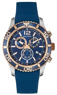 Nautica Nautica Men's NAD16502G NST 09 Stainless Steel Watch with Blue Band
