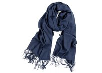 Navy Cashmere Pashmina Group Navy* Cashmere Wool Scarf