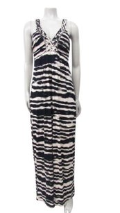 Black Maxi Dress by Neiman Marcus Bamboo Print