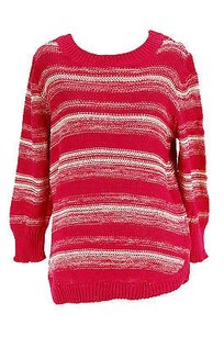New York & Company Ny Collection Striped Womens Sweater