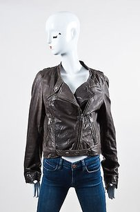 NICOLE FARHI By Dark Motorcycle Jacket