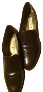 Nicole Miller 7.5 Leather Slip Ons Brown Flats