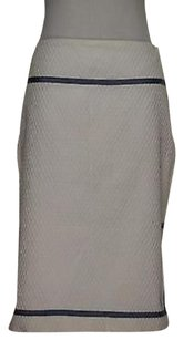 Nicole Miller Womens Striped Skirt White