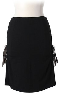 Nicole Miller Ribbon Accented Skirt Black